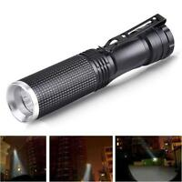 7W Mini CREE XPE-Q5 LED Flashlight 14500 AA Battery Torch Lamp Light Convex Lens