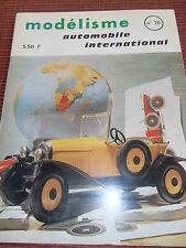 REVUE MODELISME AUTOMOBILE INTERNATIONAL N ° 70 année 1970 ( ref 10 )