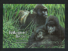 Guernsey 2007 Endangered Species/Gorilla ss--Attractive Topical (952) MNH