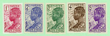 Ivory Coast 5 stamps, SC 112 - 116, Baoule Woman, 1936, MPH