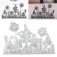 Metal Cutting Dies Christmas Flower Plants Decor Stencils Paper Cards Craft
