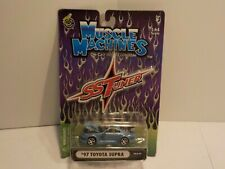 N 97 TOYOTA SUPRA light Blue Muscle Machines 1:64 Scale Diecast SS Tuner