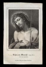 santino incisione 1800 ECCE HOMO