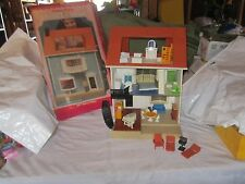 Vintage Fisher Price Dollhouse Doll house 250 accessories 56 pcs Original box