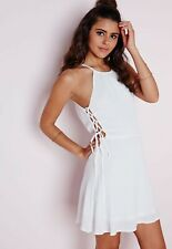 Missguided White Summer Day A Line Dress Size 6