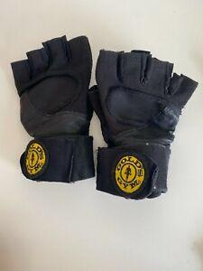 Gold's Gym Classic Wrist Wrap Gloves L Weightlifting Gym WGG5600X12