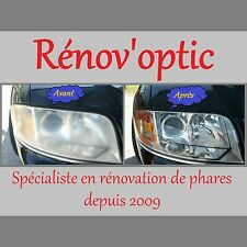 PACK RÉNOVATION PRO OPTIQUE / GLACE DE PHARE POLYCARBONATE COMPLET ET UNIVERSEL