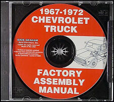GMC Chevy Truck Assembly Manual CD 1972 1971 1970 1969 1968 1967 Chevrolet