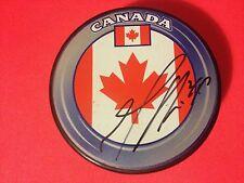 Marc Edouard-Vlasic Team Canada Flag Signed Puck Auto COA