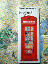 NEW-2004-MAP of ENGLAND-MapEZ Guide,Rip-Proof w/Detail of London-Hotels, Museums