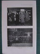 1917 WWI WW1 PRINT ~ PASSENGERS FROM TORPEDOED LACONIA ~ EEMLAND GAASTERLAND