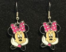 Minnie Mouse Earrings Disney Surgical New Pink Bow (A)