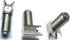 2 Stück F-Einbau-Buchse für Printmontage Winkel Best.Nr.Ch3hc32
