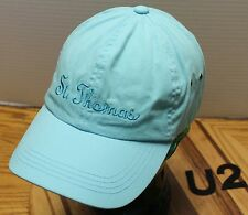 LIGHT BLUE ST. THOMAS HAT STRAPBACK ADJUSTABLE IN VERY GOOD CONDITION    U2