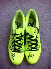 David Villa Autographed Adidas Cleats SPAIN NYCFC VALENCIA BARCALONA PROOF