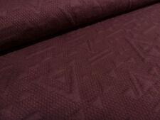 ☻ tissu jacquard jersey motifs géométriques double tissu Bordeaux ☻