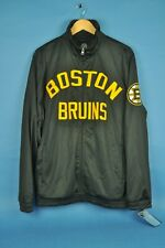 NWT NHL GIII Sports Carl Banks Black & Gold Boston Bruins Full Zip Jacket Large