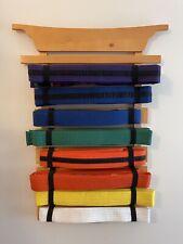 Belts Included Kidkraft Martial Arts 8 Belt Display Wall Rack Holder Tae Kwon Do