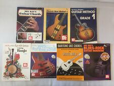 Mel Bay Guitar/Bass/Banjo/Ukelele Instruction Books Chords Method Lot of 7