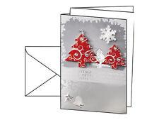 DS454 Sigel Handmade-weihnachts-karten (inkl. Umschläge) Three Trees