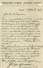 Lettera Autografo Filippo Manara Conservatorio Musica Tartini Trieste 1924