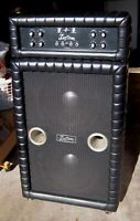 "Rare Vintage Kustom Amp Head & Speaker Bottom with 2 JBL 15"" Bass Speakers!"
