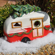 Miniature Fairy Garden Christmas LED Camper