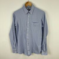 Uniqlo Mens Button Up Shirt Small Blue Long Sleeve Collared Slim Fit