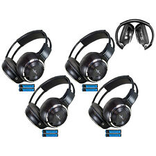 4 Fold In Wireless Infrared DVD Rear Headphones Headset For Pickup Truck Van Nis