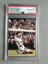 Roger Federer Signed NetPro Rookie Card PSA/DNA Autographed Autograph Tennis