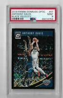 2018 donruss optic basketball Anthony Davis Black velocity 12/39 PSA 9