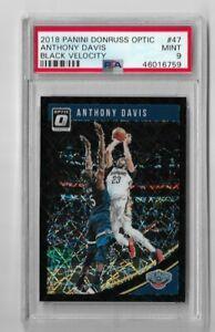 2018 donruss optic basketball Anthony Davis Black velocity 12/39 PSA 9