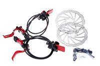 MOWA MX1 Mountain MTB Cyclocross Bicycle Bike Hydraulic Disc Brake Set 160mm Red