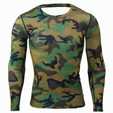 Men Sports Gym Compression Under Base Layer Tights GYM Thermal Armour Top Shirts