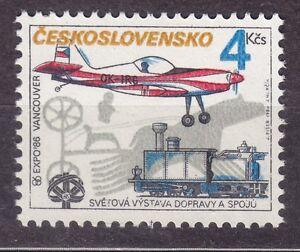 CZECHOSLOVAKIA 1986 **MNH SC#2594 EXPO '86, Vancouver, Z50 monoplane, locomotive