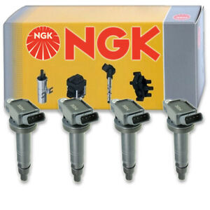 4 pc NGK Ignition Coils for 2005-2019 Toyota Tacoma 2.7L L4 Spark Plug Wire ph