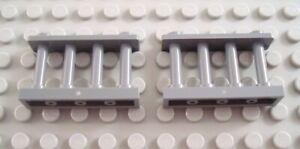 LEGO Lot of 2 Dark Bluish Gray 1x4x1 Lattice Fence Pieces