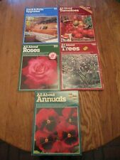 Lot of 5 Ortho Gardening Books: Annuals, Trees, Tomatoes, Roses, Vegetables