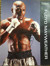 ORIGINAL Floyd Mayweather Authentic signature glossy Poster NEW