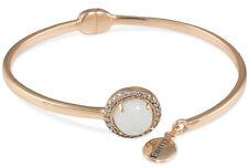 """$75 Carolee Rose Gold Tone GIFTING """"Energy"""" Stone Hinged Bangle Bracelet NEW"""