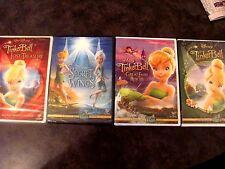 Lot of 4 Disney Tinkerbell DVD:Tinkerbell,Lost Treasure,Secret of Wings + 1 more