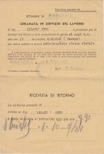 * MARCARIA - Fascismo RSI Chiamata in servizio del lavoro 1944