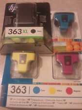 GENUINE HP 363 Ink Cartridges Black XL With Cyan, Magenta & Yellow VAT INCLUDED