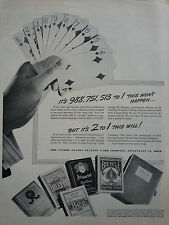 1944 Bicycle Bee Aristocrat Blue Ribbon Congress Tally Ho Playing Cards Ad