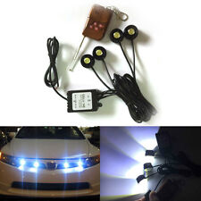 4 X LED 12W White Eagle Eye Flash Knight Night Rider Scanner Lighting Remote