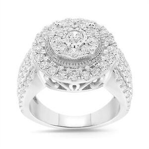 10K WHITE GOLD 1.95 CARAT WOMEN REAL DIAMOND ENGAGEMENT RING WEDDING RING BRIDAL