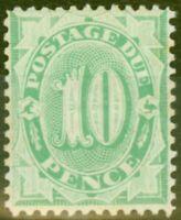 Australia 1902 10d Emerald Green SGD18 Fine Very Lightly Mtd Mint