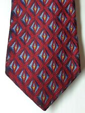 Robert Talbott Red Patterned Silk Necktie Made In USA