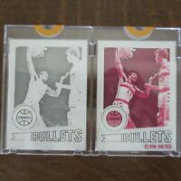 Two 1977 Topps ELVIN HAYES #40 Proof Cards NBA HOF BULLETS Vault COA Rare