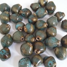 10pcs Blue Speckled Rustic Porcelain Bicone Beads 14x12mm Jewellery Making G25